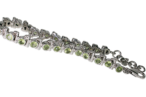 Design 10103: green peridot tennis bracelets