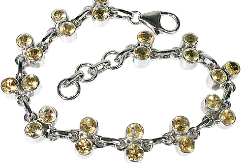 Design 10109: yellow citrine engagement bracelets