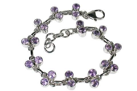 Design 10110: purple amethyst engagement bracelets