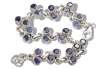 Design 10111: blue iolite brides-maids bracelets