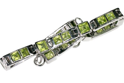 Design 10114: green peridot tennis bracelets