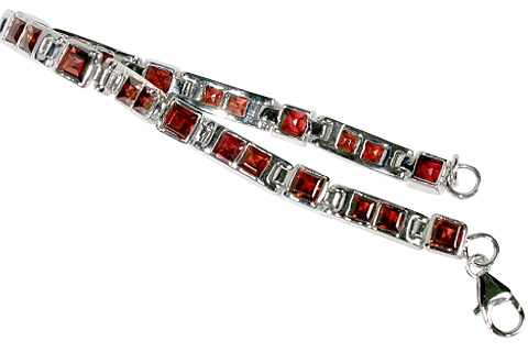 Design 10115: red garnet tennis bracelets