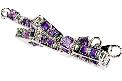 Design 10116: purple amethyst tennis bracelets