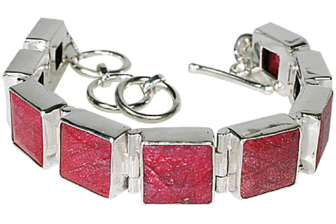 Design 10117: red ruby bracelets