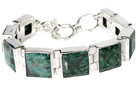 Design 10118: green emerald bracelets
