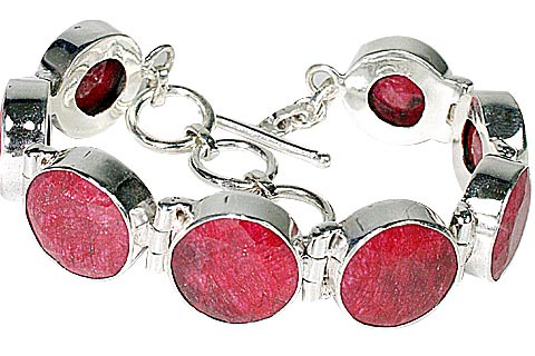 Design 10121: pink,red ruby bracelets