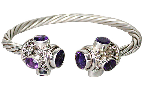 Design 10292: purple amethyst ethnic bracelets