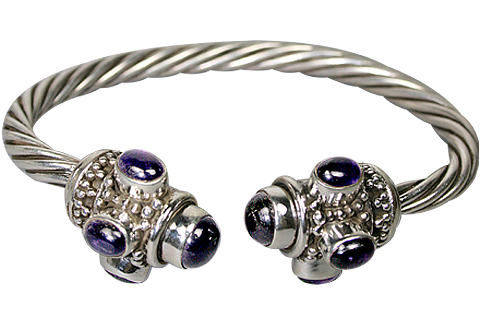 Design 10294: purple,white amethyst ethnic bracelets