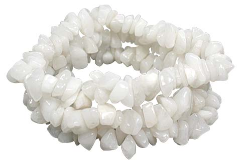 Design 10321: white snow quartz american-southwest bracelets