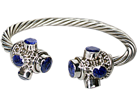 Design 10344: blue sapphire ethnic bracelets