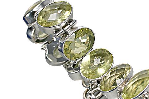 Design 10378: green lemon quartz bracelets