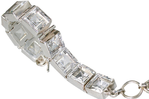 Design 10380: white crystal art-deco bracelets