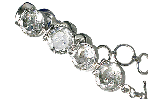Design 10382: white crystal bracelets