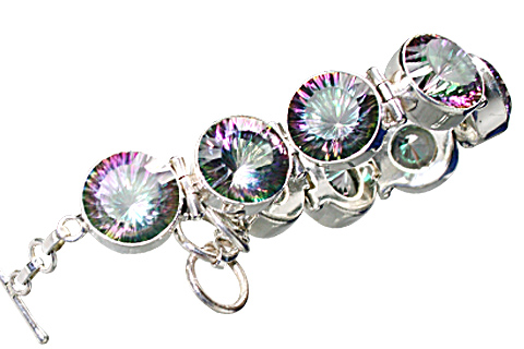 Design 10383: green,pink mystic quartz bracelets