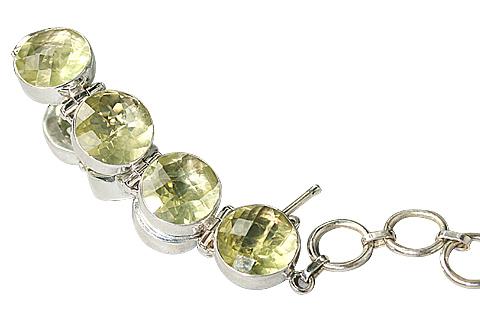 Design 10385: green lemon quartz bracelets