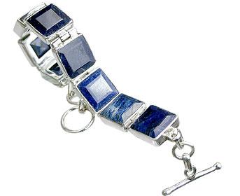 Design 10387: blue sapphire contemporary bracelets