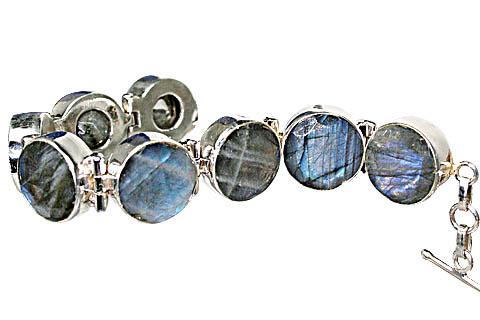 Design 10392: blue,gray labradorite bracelets