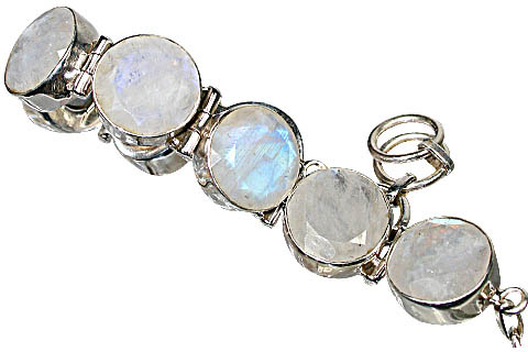 Design 10393: white moonstone bracelets