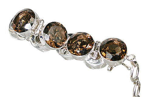 Design 10395: brown smoky quartz bracelets