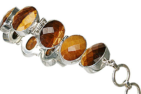 Design 10396: brown tiger eye bracelets