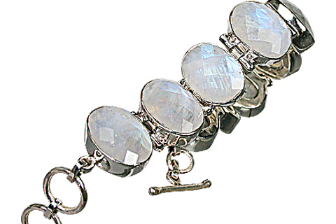 Design 10399: white moonstone bracelets