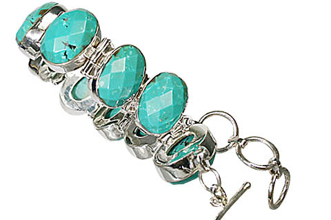 Design 10400: blue turquoise american-southwest, art-deco bracelets