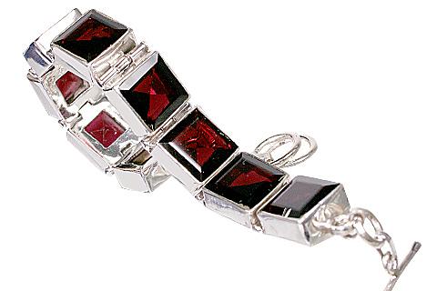 Design 10405: red garnet bracelets