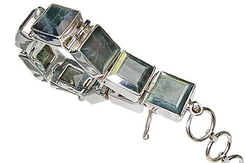 Design 10406: green,gray labradorite bracelets
