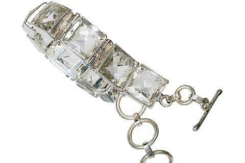 Design 10422: white crystal chunky bracelets