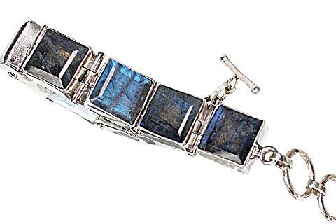 Design 10424: blue,gray labradorite bracelets