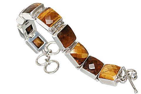 Design 10426: brown tiger eye art-deco bracelets