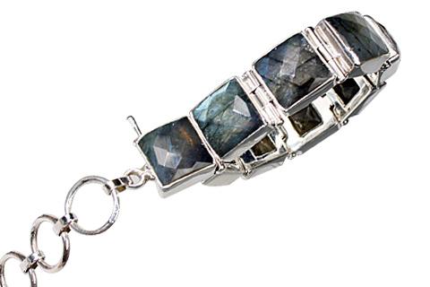 Design 10430: green,gray labradorite bracelets