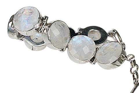 Design 10432: white moonstone bracelets