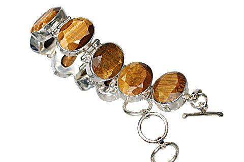 Design 10435: brown,yellow tiger eye bracelets