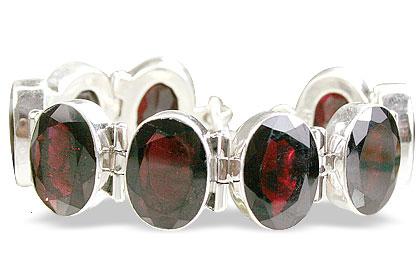 Design 10436: red garnet art-deco bracelets
