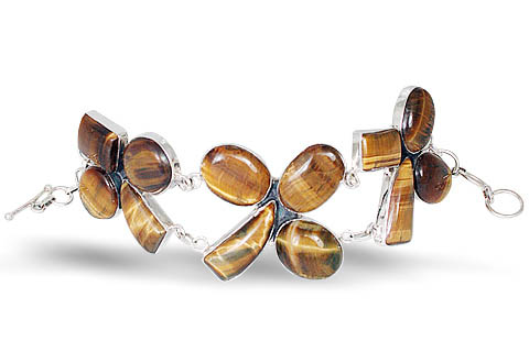 Design 10531: brown tiger eye ethnic bracelets