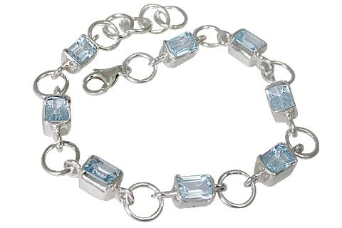 Design 10740: Blue blue topaz bracelets