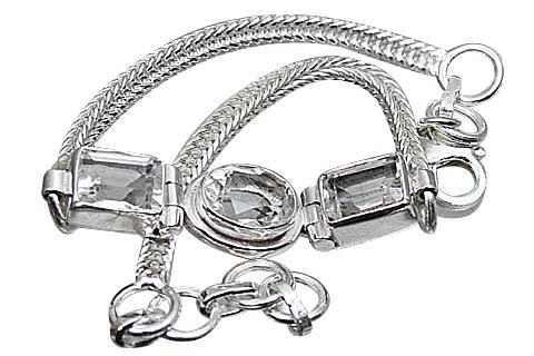 Design 10820: white crystal bracelets