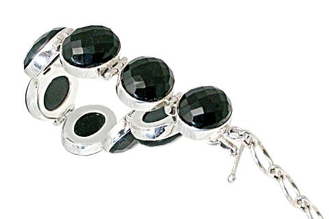 Design 10840: Black onyx chunky bracelets