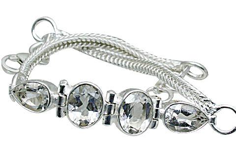 Design 10858: White crystal bracelets