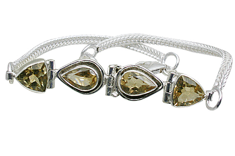 Design 10861: yellow citrine bracelets