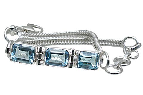 Design 10865: Blue blue topaz bracelets