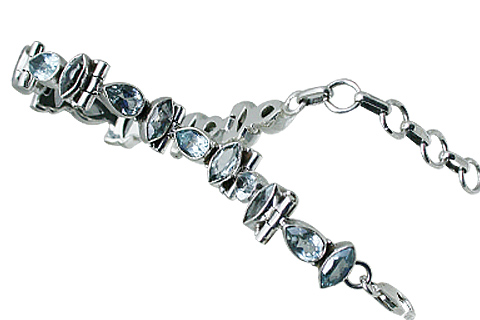 Design 10866: Blue blue topaz bracelets