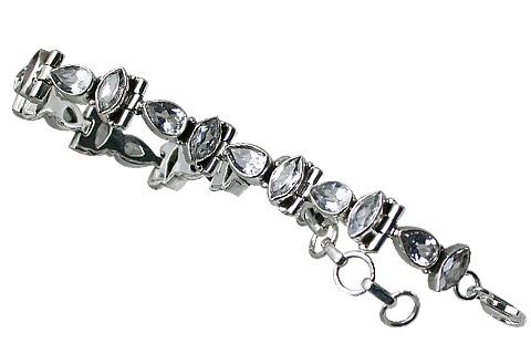 Design 10867: white crystal bracelets