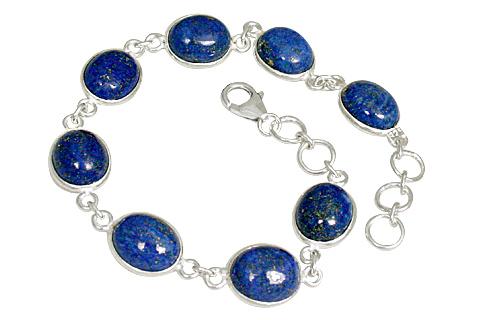 Design 10875: blue lapis lazuli contemporary bracelets