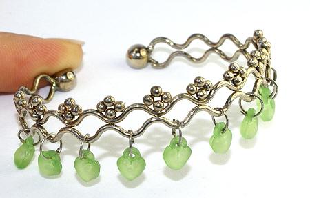 Design 10983: green onyx bracelets