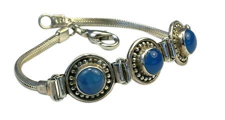 Design 10991: blue chalcedony bracelets