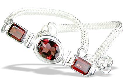 Design 11035: red garnet art-deco bracelets