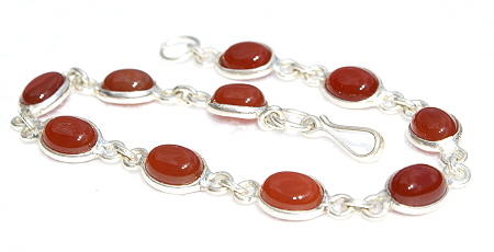 Design 11090: orange,red carnelian bracelets