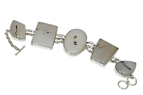 Design 11144: white onyx bracelets